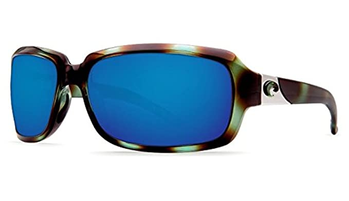 bc029a542c Costa Isabela Sunglasses Shiny Seagrass   Blue Mirror 580G   Cleaning Kit  Bundle