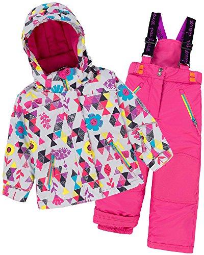 Deux par Deux Girls' 2-Piece Snowsuit Confetti Garden Pink, Sizes 4-14 - 7 by Deux par Deux