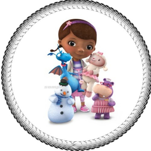 """One 8"""" Round Doc Mcstuffins Edible Image Cake Topper"""