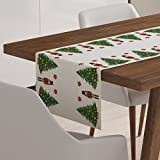 Nutcracker Christmas Table Runner Cotton Dining Linen Decor Decoration Topper