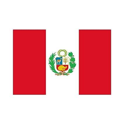 NiceButy Bandera de Perú 3X 5 pies Perú Bandera de poliéster Durable Bandera peruana portátil al