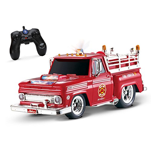 Kidirace RC Remote Control Fire Engine Truck, Rechargeable RC Car, Durable, Easy To Control