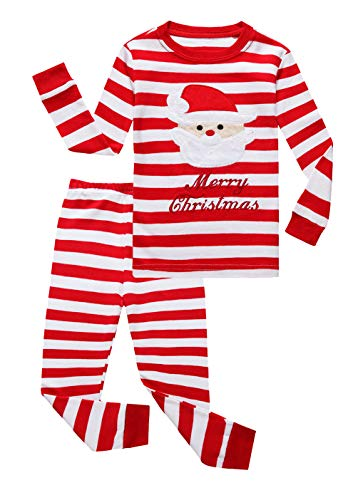 Family Feeling Little Boys Girls' Santa Claus Christmas Cotton Long Sleeve Pajama Set Pjs 6 for $<!--$16.99-->