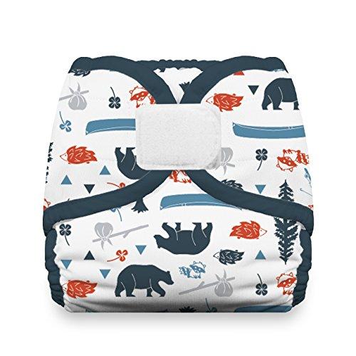 Thirsties Reusable Cloth Diaper Cover, Hook & Loop Closure, Adventure Trail Medium ()