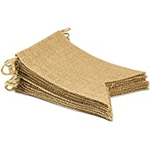 ThxToms 15Pcs Burlap Banner, DIY Decoration for Wedding, Baby Shower and Party