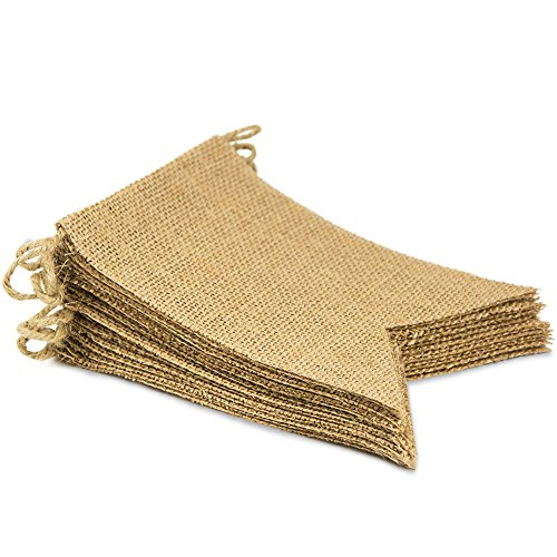 ThxToms [15 Pcs] Burlap Banner, DIY Wall Decor for Birthday/Graduation/Wedding/Baby Party (14.5ft)