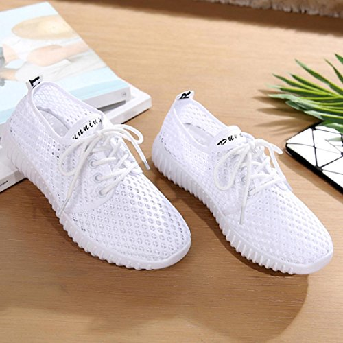 up Shoes Color Breathable Running Shoes Xinantime Solid Sport Antiskid Clearance Sneakers White Women Casual Sneakers Mesh Lace Sale Outdoor CT6pwCq