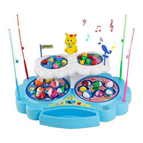 z.x magnetisch Angeln Spiel Musik Game drehbar Angeln Spiel Colorful Spielzeug für Kinder 345