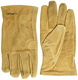 Carhartt Men\'s Leather Fencer Work Glove, Brown, Small