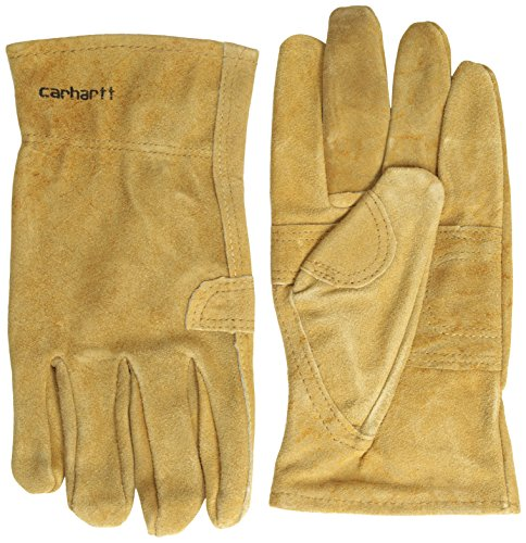 - Carhartt Men's Leather Fencer Work Glove, Brown, Small