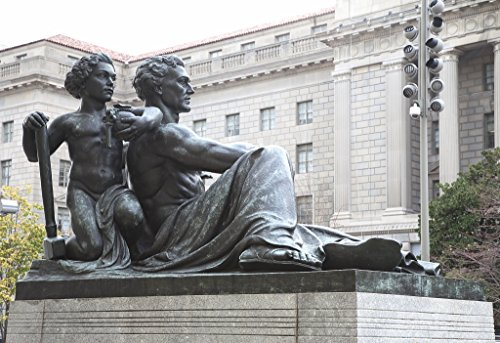 24 x 36 Giclee Print of Sculpture The Voice of Reason Oscar S. Straus Memorial Fountain by Adolph Alexander Weinman at The Environmental Protection Agency Ronald Reagan Building Washington D.C. from Vintography
