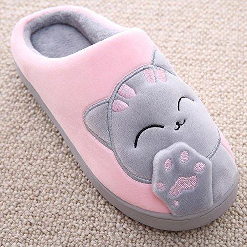 Interiores Zapatillas Gruesas Mujeres Felpa Preciosos 37 Zapatos Algod¨®n De Bow amp;xyzapatillas Pink W W6qAS8T