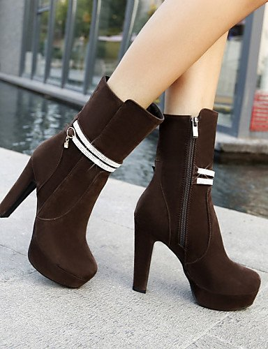 us7 uk6 Robusto Ante XZZ y Botas Zapatos Oficina brown Marrón Redonda eu39 Punta us8 mujer de Casual Tacón eu38 us8 Negro Punta 5 uk6 black Trabajo eu39 brown cn38 Vestido 5 cn39 Cerrada uk5 rIf1qI