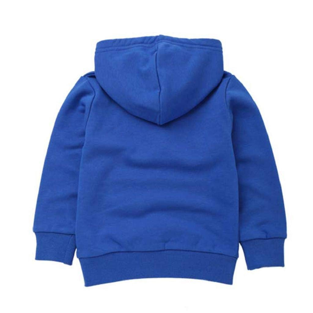 SAKAMU-Autumn/Children Kid Boy Solid Pocket Pullover Hooded Hoodie Outfits Tops Clothes