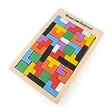 Casse-tête Tangram en Bois - Tetris - Jouet en Bois Montessori