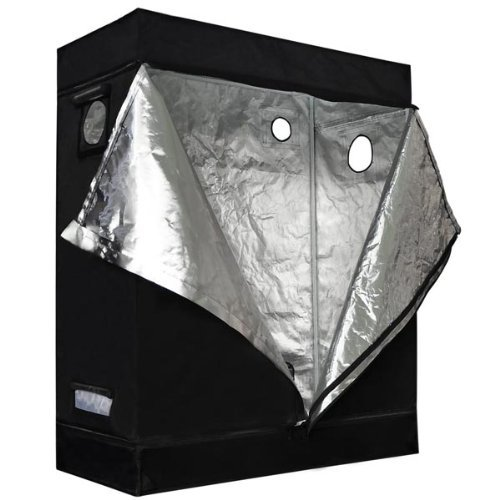 Cheap 24″x48″x60″ Mylar Hydroponics Indoor Garden Grow Tent Dark Room 2'X4'X5′ Hydro Cabinet Box