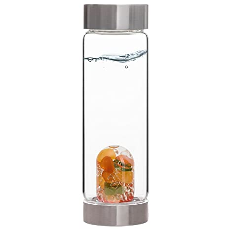 Vita Juwel Gemstone Infused Happiness Water Bottle - Enhances and Structures Drinking Water - Interchangeable Pod