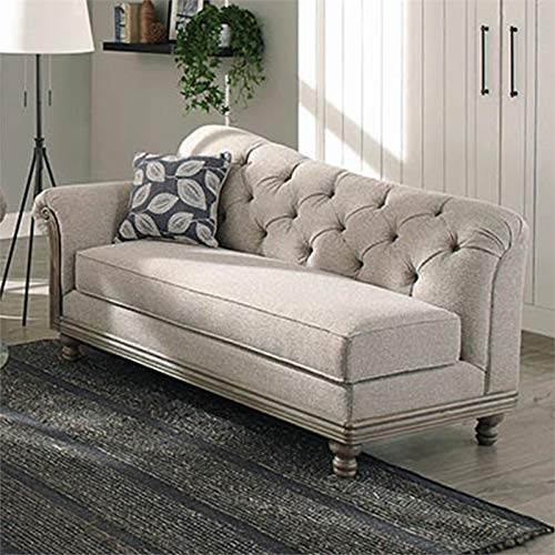 Coaster Gilmore Tufted Chaise Lounge in Gray ()