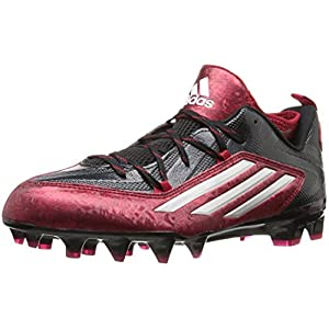 adidas Men's Crazyquick 2.0 Football Cleats (12, Core Black/Platinum/Power Red)