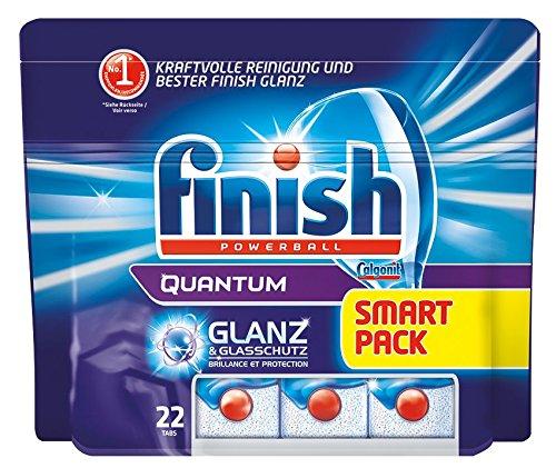 Finish /Calgonit Quantum mit Glanz- und Glasschutz, Spülmaschinentabs, 1er Pack (1 x 22 Stück)