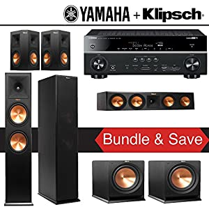 Klipsch RP-280F 5.2 Reference Premiere Home Theater System with Yamaha RX-V781BL 7.2-Ch Network A/V Receiver
