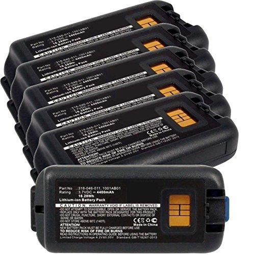6x Exell EBS-CK70 Li-Ion 3.7V 4400mAh Batteries For Intermec CK70, CK71. Replaces Cameron Sino CS-ICK700BL, INTERMEC 1001AB01, 1001AB02, 318-046-001, 318-046-011 by Exell Battery