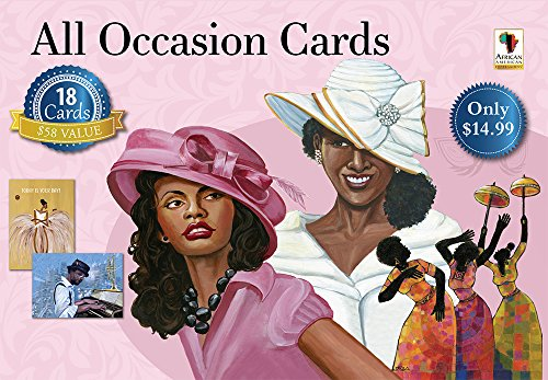 ": African American Expressions - All Occasion Boxed Cards Assortment #12 (Box of 18 cards, 5"" x 7"") AOAB-760"