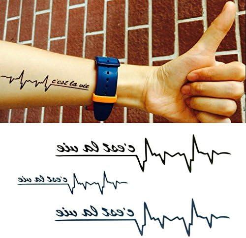 Oottati Tatuajes Temporales Clavícula Tobillo Electrocardiograma ...