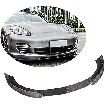 MCARCAR KIT Fits Porsche Panamera S Base Hatchback 2010 2012 2013 Pure Carbon Fiber Front Bumper Lip Chin Spoiler