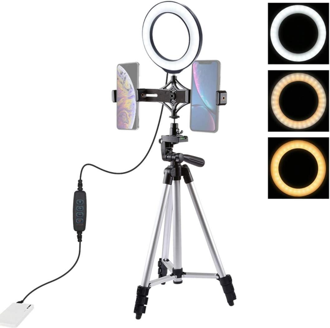 Vlog DUS 6.2 Aro de Luz con Tripode LED Ring Light Anillo Luz para Maquillaje Fotografia Tiktok Live Stream