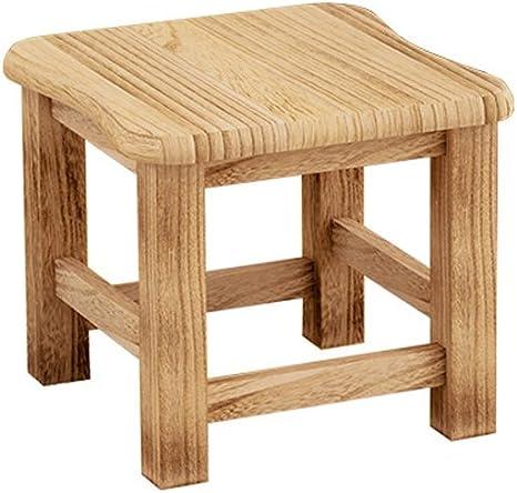 LYTSM® Tabouret Ménage moderne Petit banc de mode Tabouret créatif Tabouret bas Bois massif Tabouret en bois stable et durable (Couleur : #1)