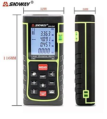 SNDWAY E Series Laser Distance Meter Digital Diastmeter Laser Rangefinder