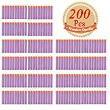 EC2BUY 200pcs 7.2cm Refill Bullet Darts for Nerf N-strike Elite Series Blasters Kid Toy Gun - Purple