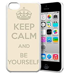 diy phone caseKeep Calm and Be Yourself Pattern HD Durable Hard Plastic Case Cover for iphone 4/4s Design By GXFC Casediy phone case