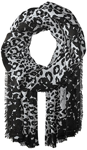 Marc Jacobs Women's Leopard Stole Scarf, black/white, One Size ()