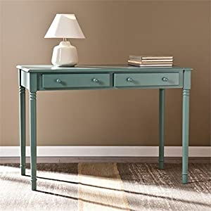 Pemberly Row 2 Drawer Writing Desk in Agate Green