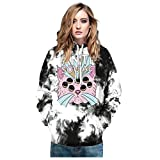 MHOTCIG Unisex 3D Printed Hoodies Casual Pouch