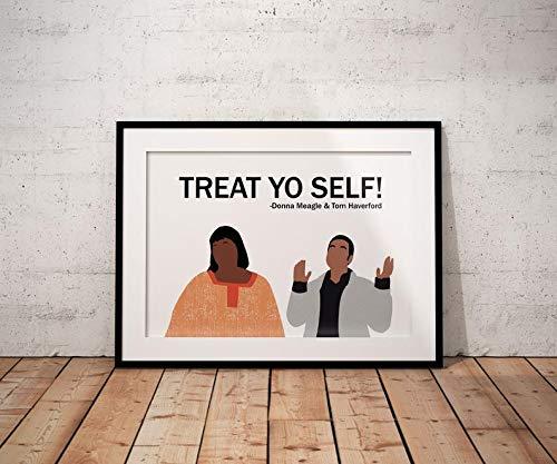 MugKD LLC Treat Yo Self Poster Donna Meagle