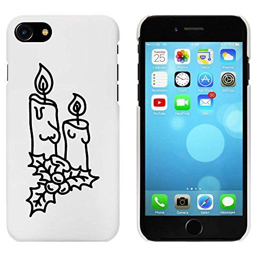 Blanc 'Bougies de Noël' étui / housse pour iPhone 7 (MC00087975)