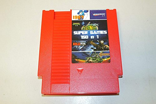 150 in 1 Super Games Multi Cart 72 Pin - RED (Super Mario,Ninja Gaiden, Ninja Turtles, Contra, Kirby, Megaman, TMNT, Castlevania)