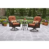 Better Homes and Gardens Azalea Ridge 3 Piece Outdoor Bistro Set, Seats 2 – Burnt Orange Review