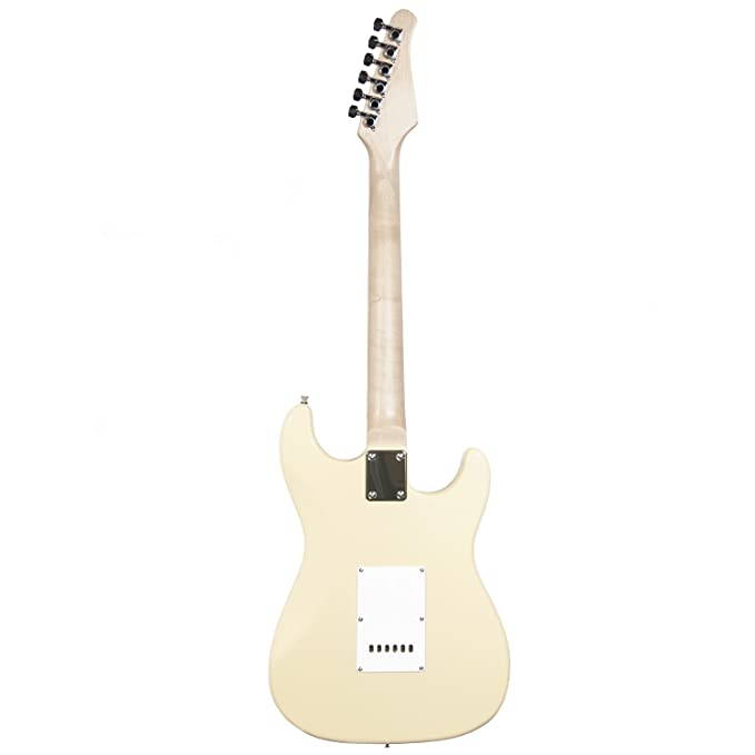 Sawtooth ST Style Guitarra eléctrica para zurdos, con golpeador de 3 capas.Incluye: accesorios, amplificador, estuche para transporte y lecciones.