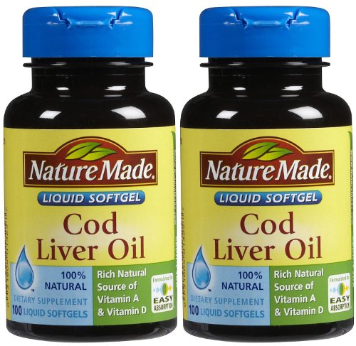 Nature Made Cod Liver Oil Softgels, 100 ct, 2 pk