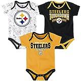"NFL Infant ""Playmaker"" 3 Piece Onesie Set-Black-24 Months, Pittsburgh Steelers"