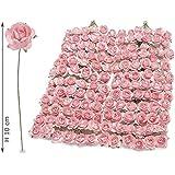 144 fiori per bomboniera a rosellina artificiale in carta rosa