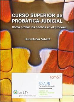 Curso Superior De Probática Judicial: Cómo Probar Los Hechos En El Proceso Epub Descarga gratuita