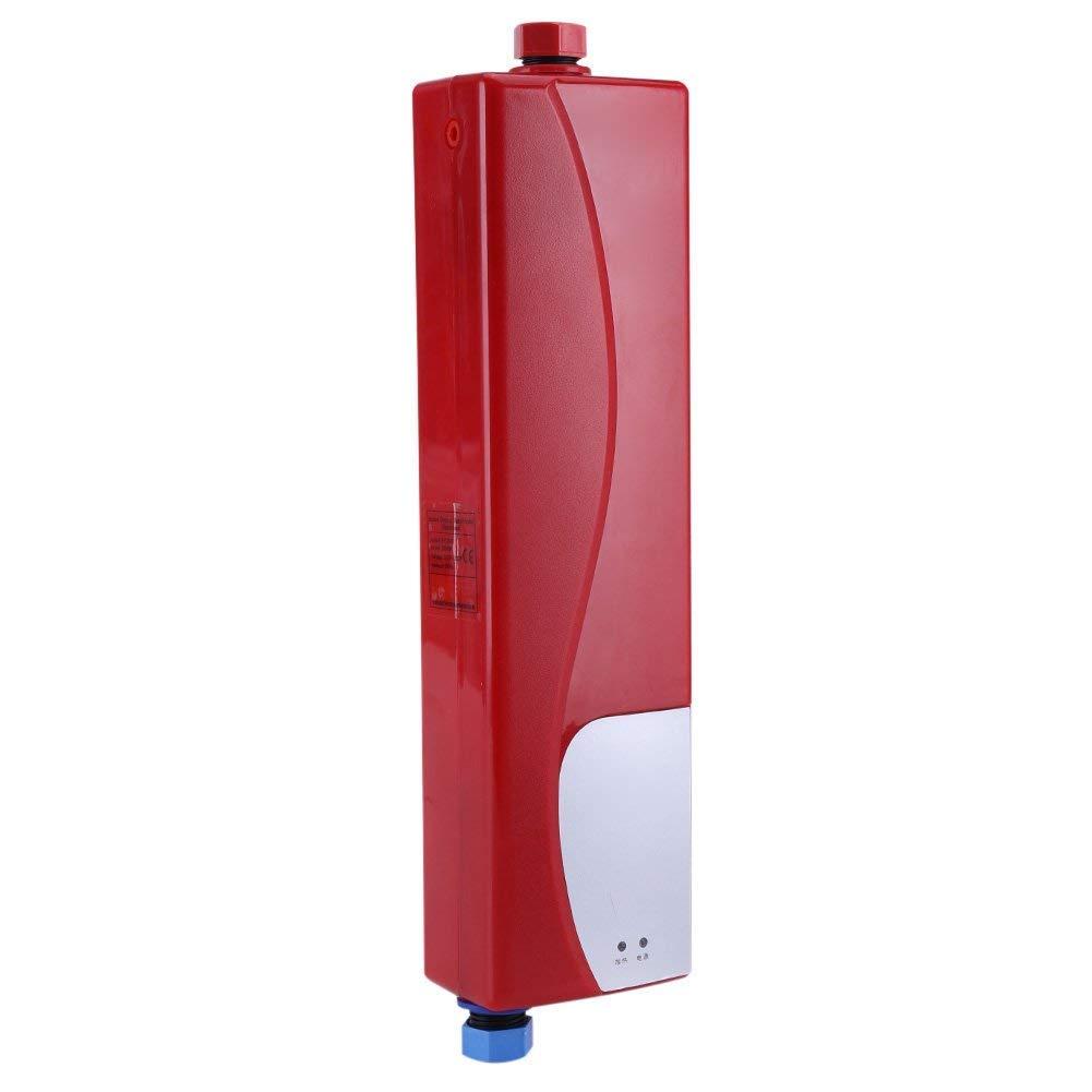 Mini calentador de agua instant/áneo el/éctrico de 3000 W sin tanque con v/álvula de presi/ón