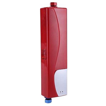 3000W Mini Calentador Instantáneo Eléctrico de Agua sin Tanque con Válvula de Alivio de Presión 220V