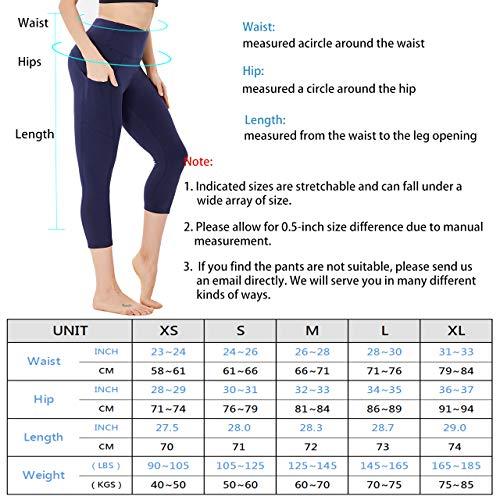HIGHDAYS Capri Yoga Pants for Women High Waist Capri Leggings with Pockets for Yoga Workout, Cycling, Running…