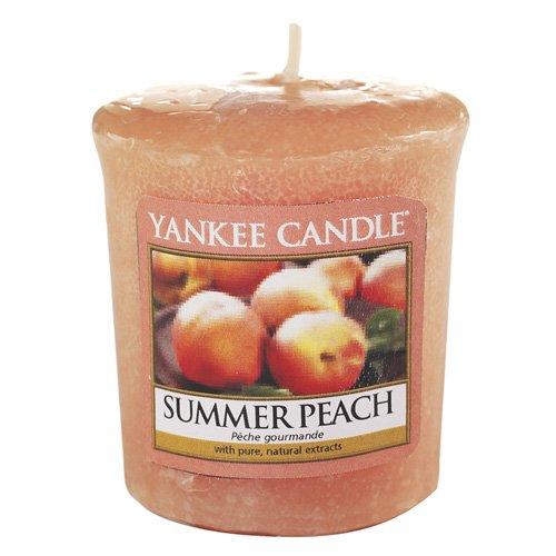 Yankee Candle Summer Peach Sampler Scented Votive Candle, Plastic, Orange
